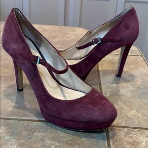 Vince Camuto purple classic high heel pumps